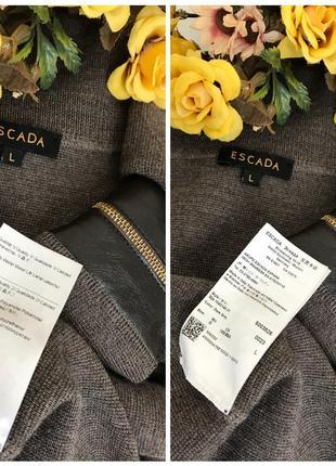 Люксовое ♥️👑♥️ шерстяное платье из шерсти escada, италия, m-l.3