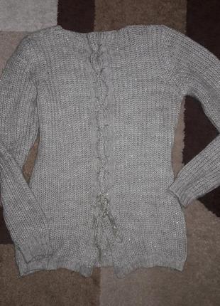 Уютный эффектный свитерок с люрексом2