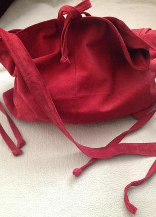 Замшевая сумка ручной работы2
