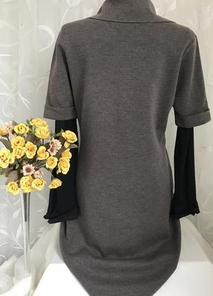 Люксовое ♥️👑♥️ шерстяное платье из шерсти escada, италия, m-l.5