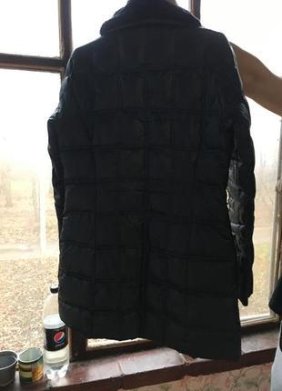 Черная куртка зимняя зефирка ovs пуховик с мехом3