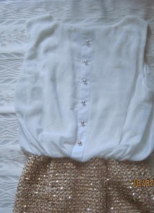 Наряд для нового года! шикарное  нарядное платье  с золотой юбкой всего за 199 грн!2