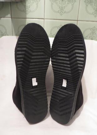 Ботинки замша мех размеры разные2