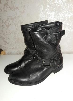Ботинки кожаные демисизонные  38-39 размер1
