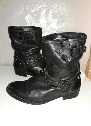Ботинки кожаные демисизонные  38-39 размер2