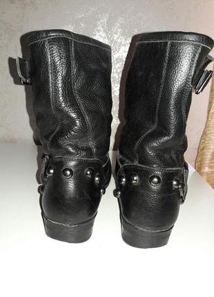 Ботинки кожаные демисизонные  38-39 размер3