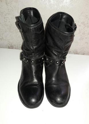 Ботинки кожаные демисизонные  38-39 размер4