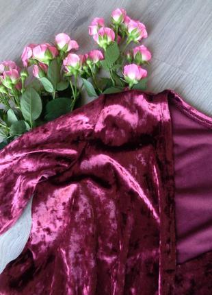 Изящное велюровое платье (все размеры и расцветки)3