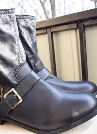 Кожаные ботинки ботильоны catwalk р.42/43 us-11 28.2 см широкую3
