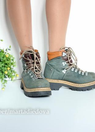 Теплые треккинги ботинки полусапожки, натуральная кожа, бренд dockers оригинал2