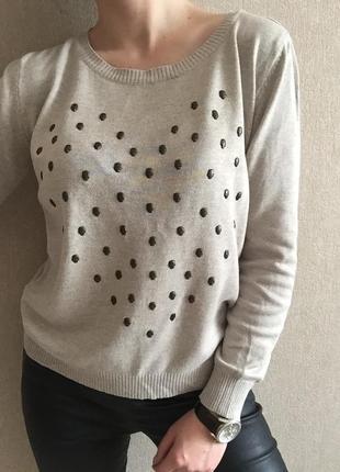 Бежевый свитерок1