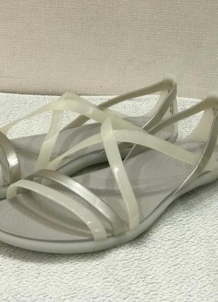 Босоножки crocs isabella strappy sandal раз. w5-22,5см2