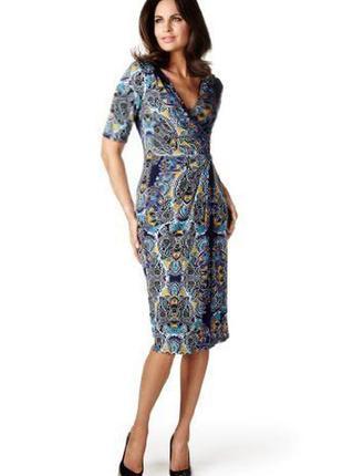 Платье asos marks & spencer/ per una midi на запах с принтом пейсли c asos