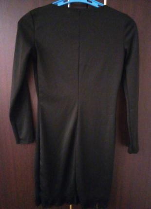 Женское черное платье2
