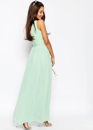 Платье макси с оборками asos2