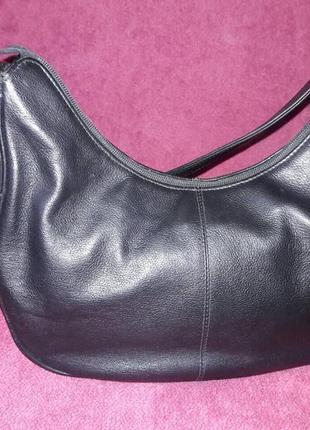 100% кожаная маленькая, вместительная сумочка