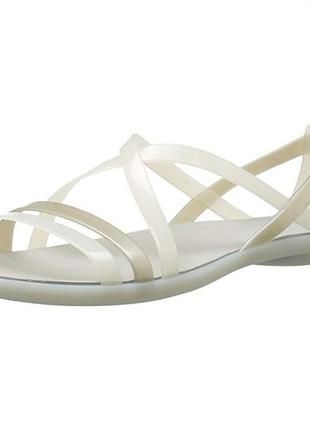Босоножки crocs isabella strappy sandal раз. w5-22,5см