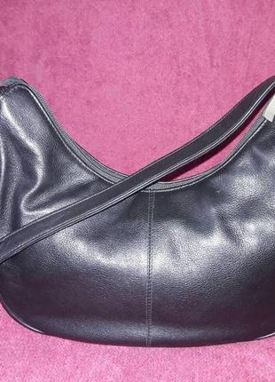 100% кожаная маленькая, вместительная сумочка2