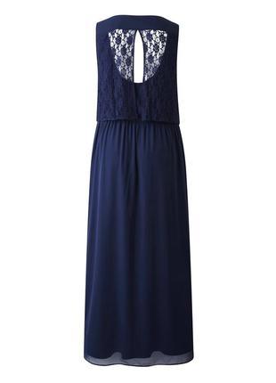 🍒нарядное шифоновое платье с кружевом р 24 - 26 на рост 180 + бренд  junaroze англия🍒2