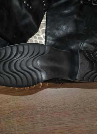 (40/26см) marco tozzi! кожа! качественные фирменные сапоги на низком ходу5