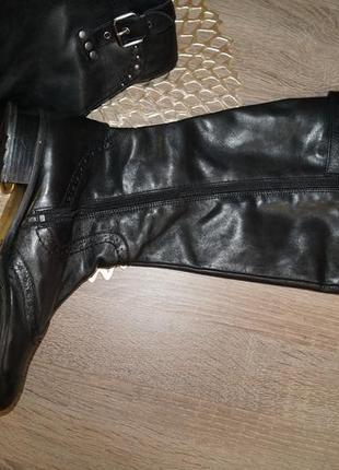 (40/26см) marco tozzi! кожа! качественные фирменные сапоги на низком ходу2