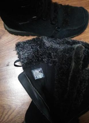 Замшевые ботинки зима4