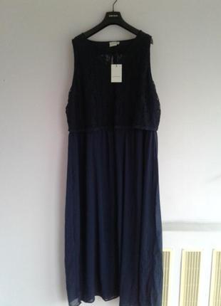 🍒нарядное шифоновое платье с кружевом р 24 - 26 на рост 180 + бренд  junaroze англия🍒4