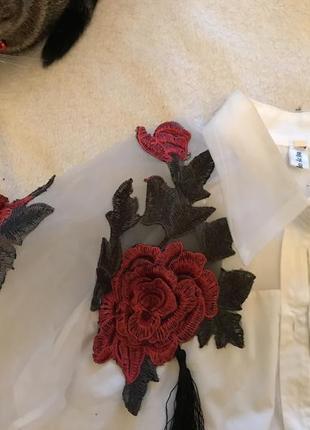 Рубашка с розами1
