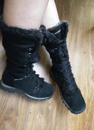 Замшевые ботинки зима5