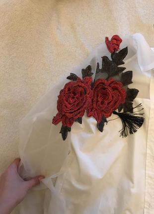 Рубашка с розами2