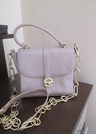 Пудровая сумочка бренд zara woman4