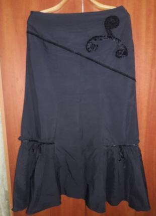Очень красивая длинная юбка с теплой подстежкой1