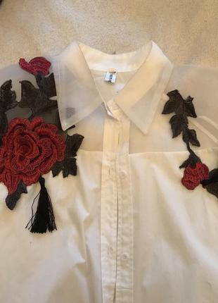 Рубашка с розами5