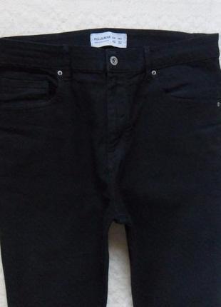 Стильные черные джинсы скинни с высокой талией pull&bear, 14-16 размер.5