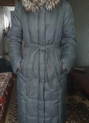 Новое фирменное зимнее пальто пуховик snow owl, пух,натуральный мех1
