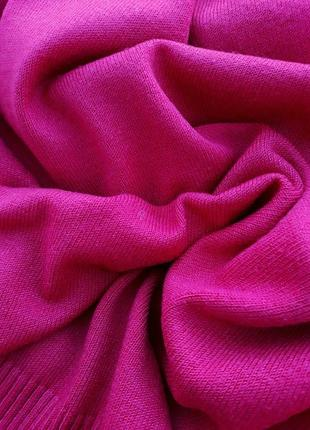 Яркий малиновый свитер плотный свитер с горлом и камнями большой размер3