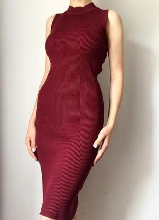 Платье в рубчик без рукавов размер s-m от new look1