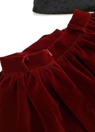 Новая бархатная юбка длины миди осень осенняя зима размер с2