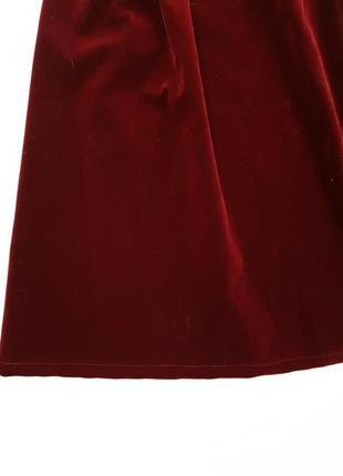 Новая бархатная юбка длины миди осень осенняя зима размер с5