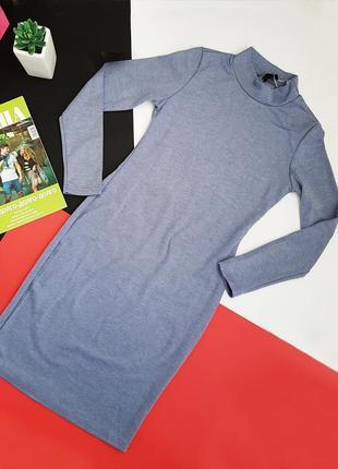 Новое серое осеннее осень лапша платье по фигуре размер m5