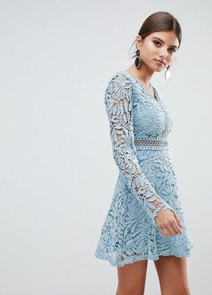 Платье с прошвыс длинным рукавом boohoo,р-р 121