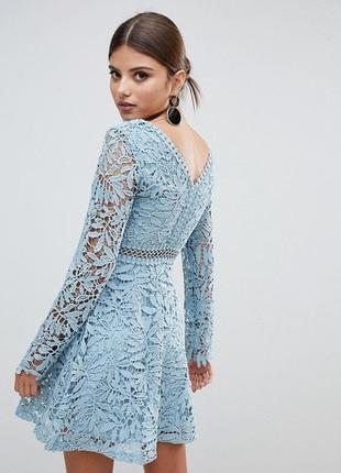 Платье с прошвыс длинным рукавом boohoo,р-р 122