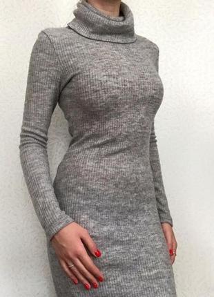 Теплое длинное  платье размер s4