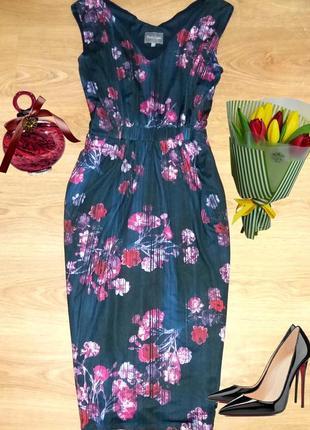 Великолепное платье миди в цветы phase eight размер 161