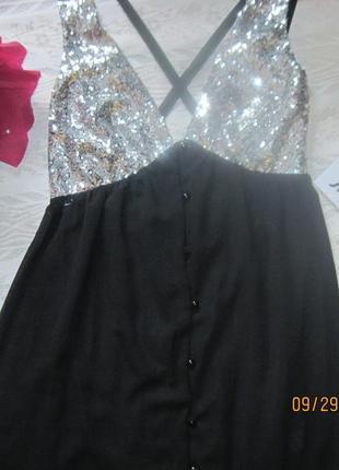 Новогодний наряд!нарядное платье в серебристым лифом и юбкой на пуговицах2