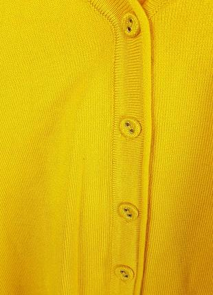Новая желтая кофта на пуговицах кардиган2