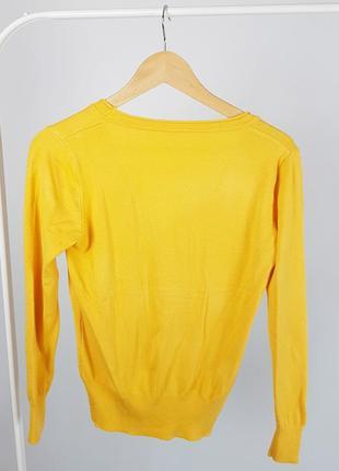 Новая желтая кофта на пуговицах кардиган4