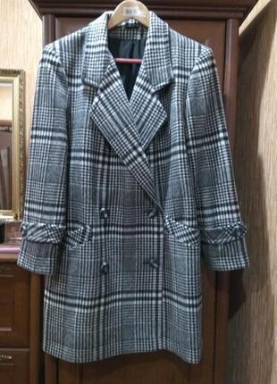 Английское шерстяное пальто littlewoods uk р.16