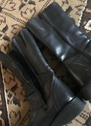 Кожаные сапоги на флисе5