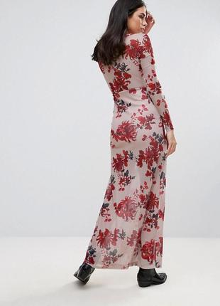 Платье макси с глубоким вырезом oh my love2